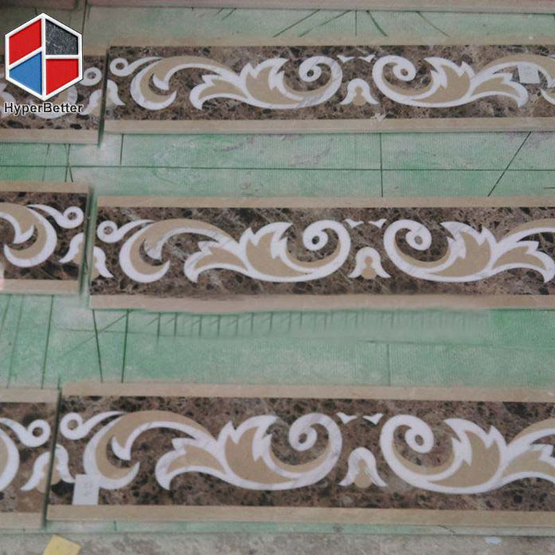 dark emperador marble medallion border (1)