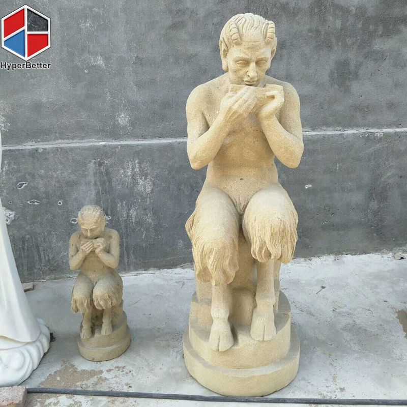 Natural stone figural sculptures