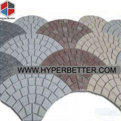 Multi color fan shaped paving stone-1
