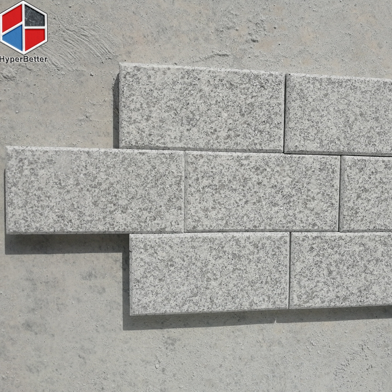 Gray granite chamfer edge flamed paving stone
